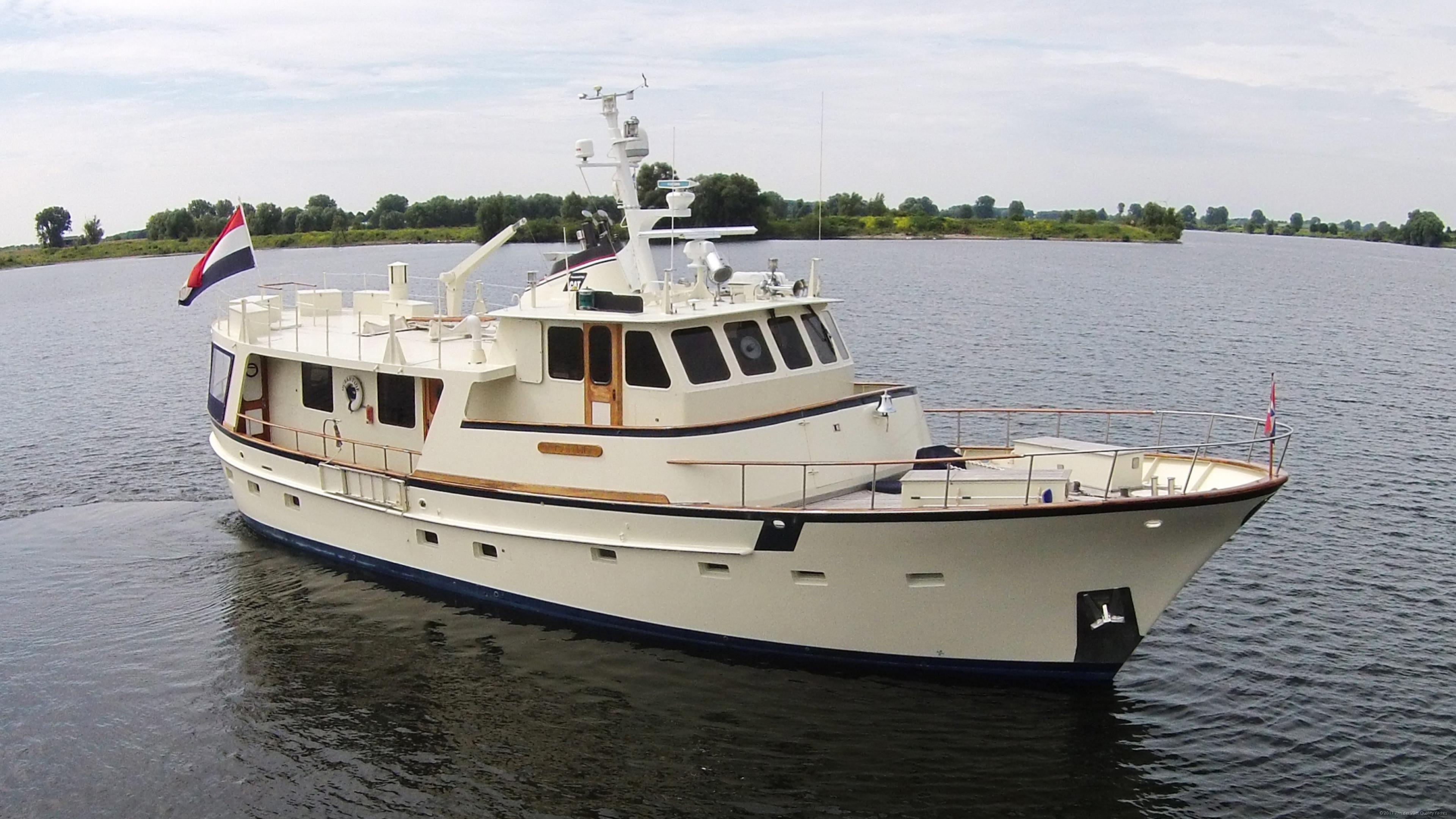 Motor yacht 76 steel trawler van der vliet quality for Used motor yacht for sale