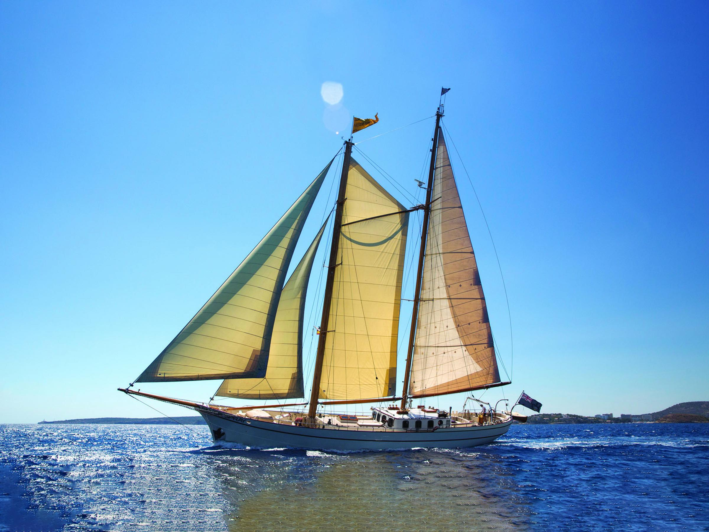 This Pilot Wishbone Schooner 2800 sailing yacht named Silver Spray just had a major price reduction