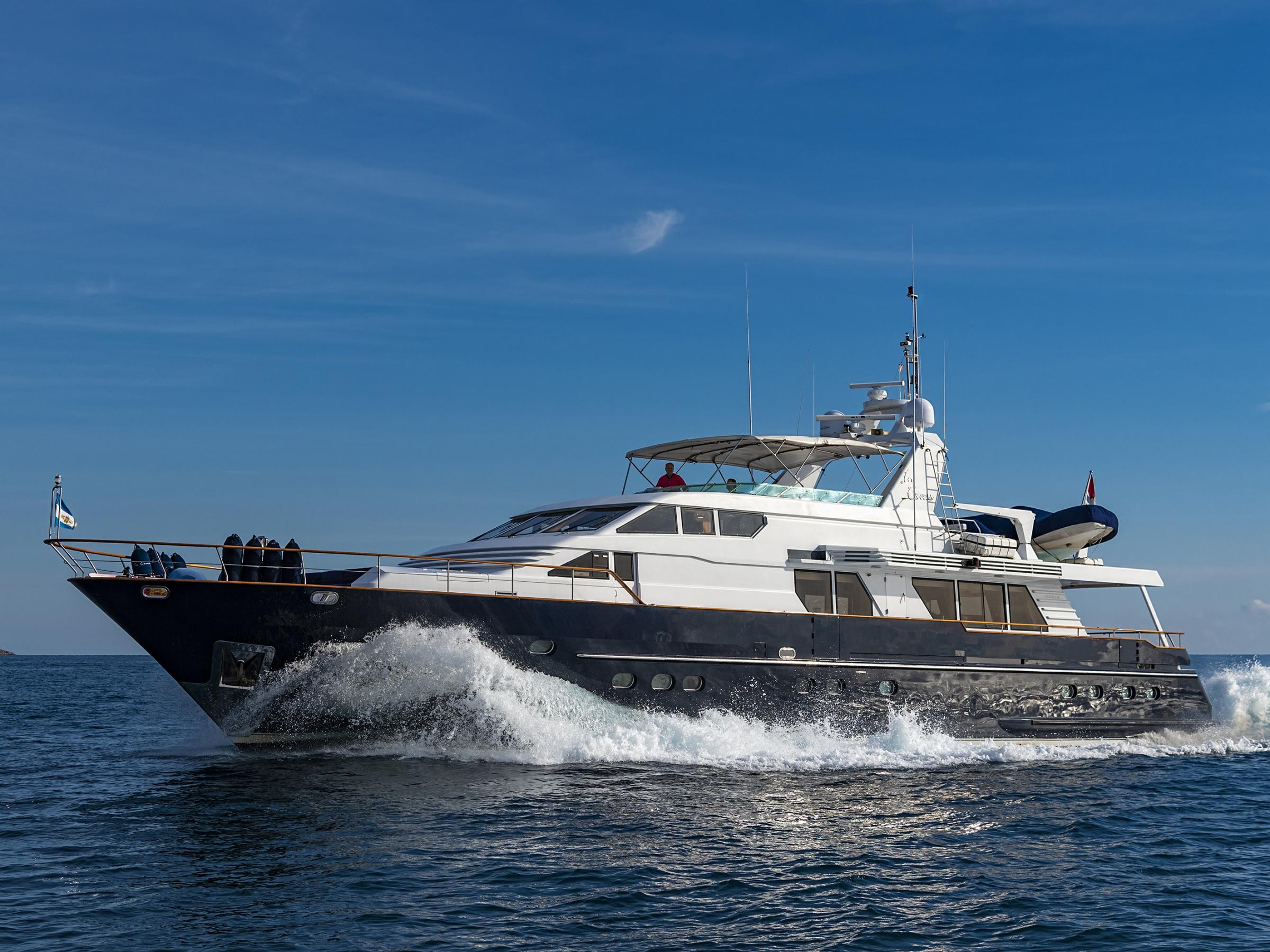 A major price reduction for the Lowland Netship 97, designed by De Vries Lentsch and named In Excess