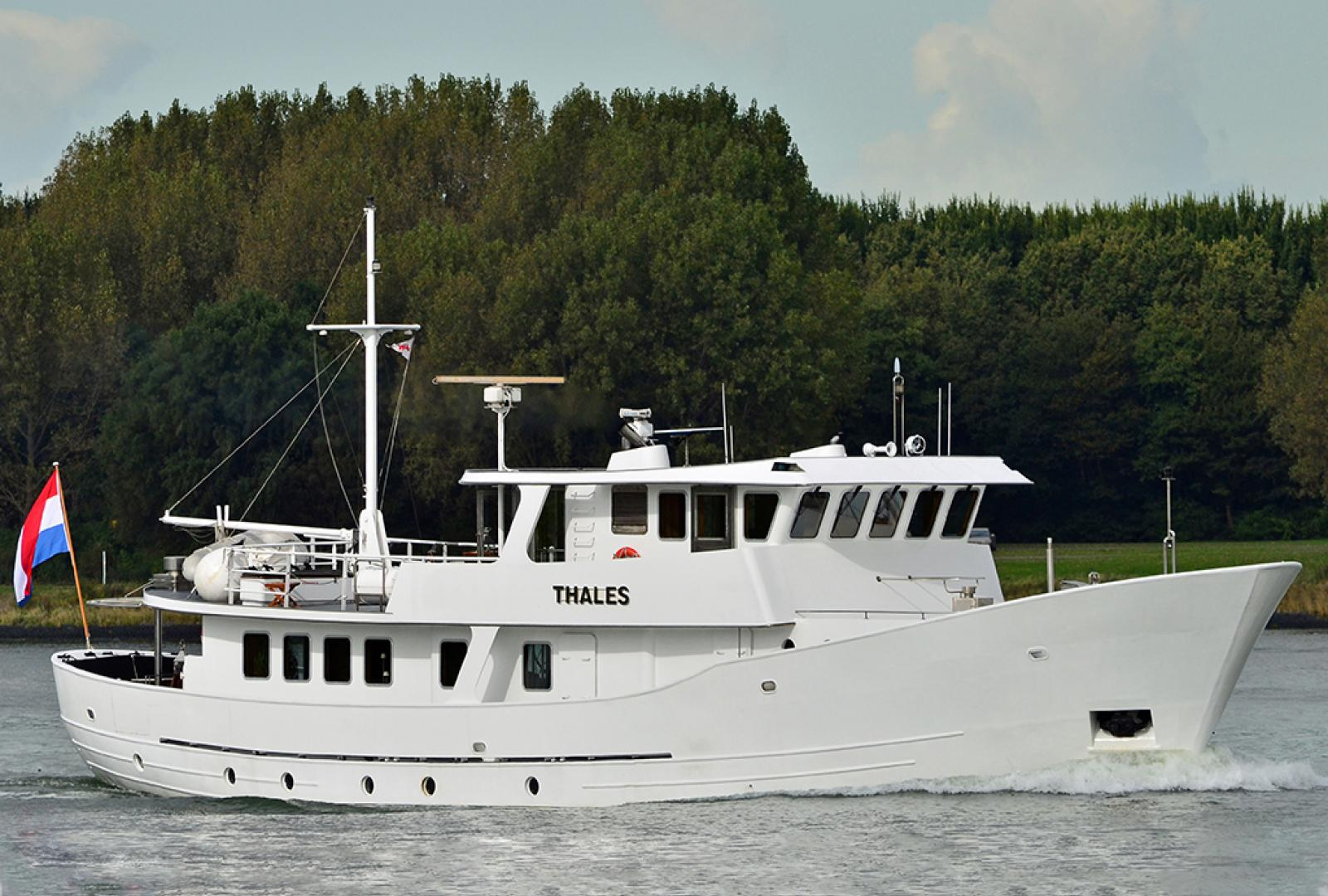 Thales, yacht for sale, dutch built yacht, price reduction, steel trawler, charter yacht, day charter,Yacht for sale, dutch built yacht
